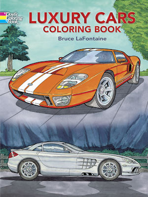 aacamuseumretailluxury cars coloring book